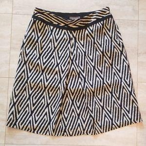 Ann Taylor single crease lightweight print skirt